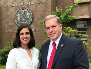Republican New York City mayoral candidate, Nicole Malliotakis with City Council candidate, Joe Concannon. Credit: Joe For NY