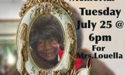 Candlelight Memorial for Ms. Louella Hatch