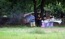 ILLEGAL BAR-B-QUE'S START EARLY ALONG MOSHOLU PARKWAY