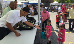 BP DIAZ HOSTS 'BACK TO SCHOOL' EVENT, TOURS ORCHARD BEACH WITH MAYOR DE BLASIO