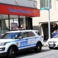 Police investigate an attempted bank robbery at the Bank of America on White Plains Road back on May 27