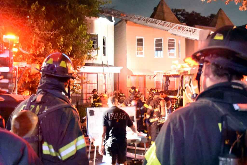 Photos by EDWIN SOTO 347-640-7445 At around 10:40 PM Tuesday a fire breaks out in a 2 story private house at 3138 Decatur Ave. &  204th St. 4 injuries were reported