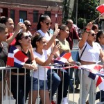Several thousand spectators turned out for the 28th Annual Dominican Day Parade on the Grand Concourse.--Photo by David Greene