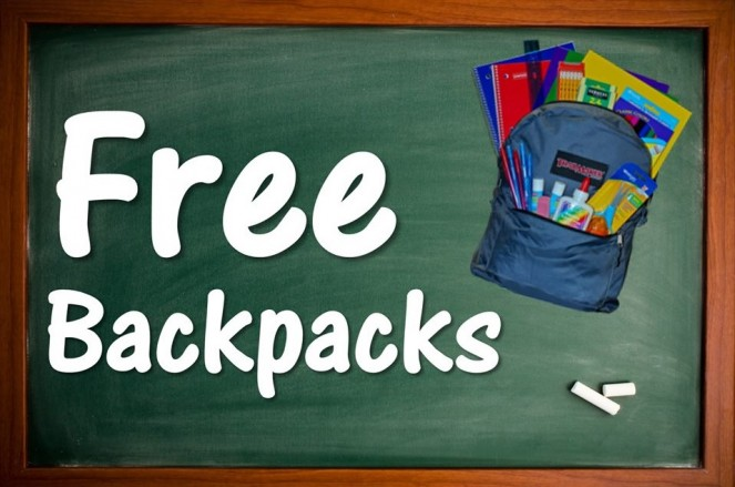 Free Backpacks Giveaway