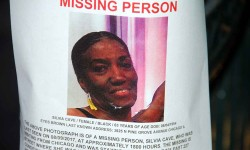 An NYPD missing persons flyer announcing the disappearance of  Silvia Cave, 63, of Chicago who was last seen August 9 in Wakefield.--Photo by David Greene