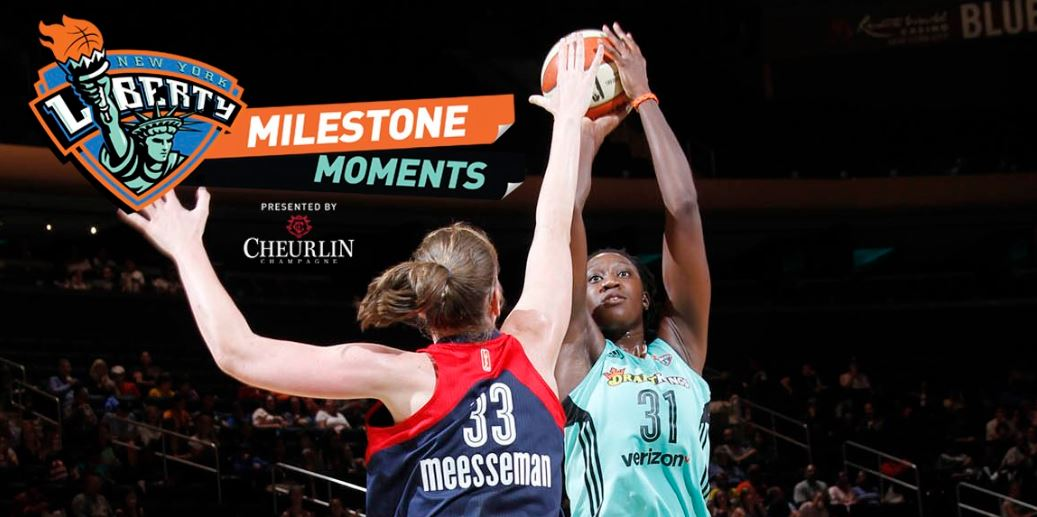 A Milestone Moment: Tina Charles (31) sits all alone in 20th place in WNBA history with 4,718 points. Twitter