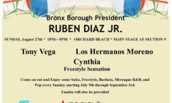 Bronx Summer Concert Series: Los Hermanos Moreno Cynthia – August 27