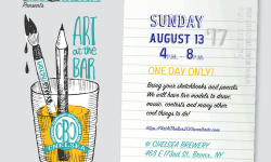 Art at the Bar: Fundraiser for BxArts Factory – August 13th