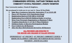 49th PCT. Annual LT. Thomas Clesse 911 Memorial 5k Run/Walk Saturday, September 9th