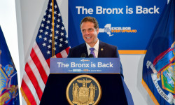 September 20, 2017-Bronx, NY- Governor Andrew M. Cuomo announces Bronx Civic Center as $10 Million New York City region winner of second-round Downstate Revitalization Initiative.