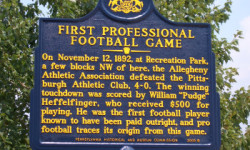 Profile America: First Professional Football Game