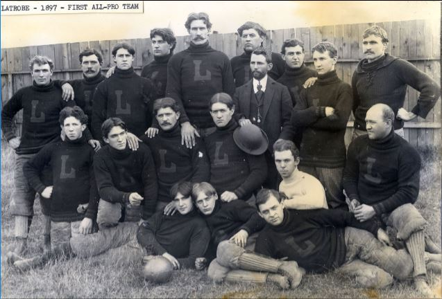 The Latrobe Athletic Association was the first all-professional football team. Credit: Pro Football Hall of Fame