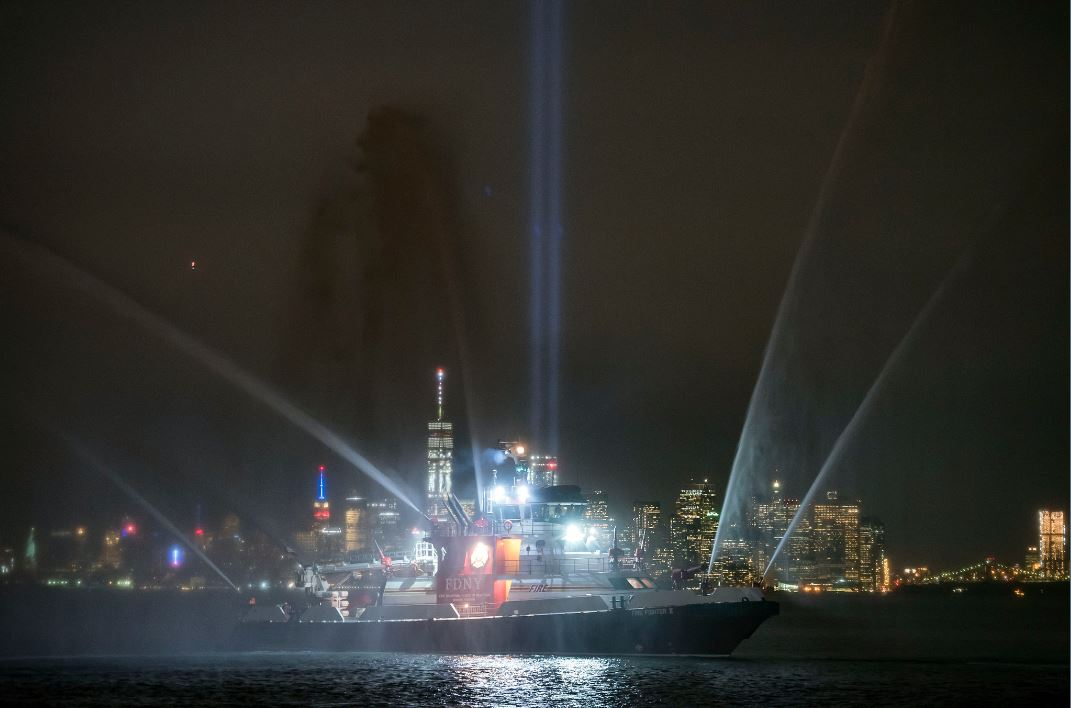 Mayor Bill de Blasio delivers remarks at the Staten Island Borough President's 9/11 Memorial Ceremony. The Staten Island September 11th Waterfront Memorial. Monday, September 11, 2017.
