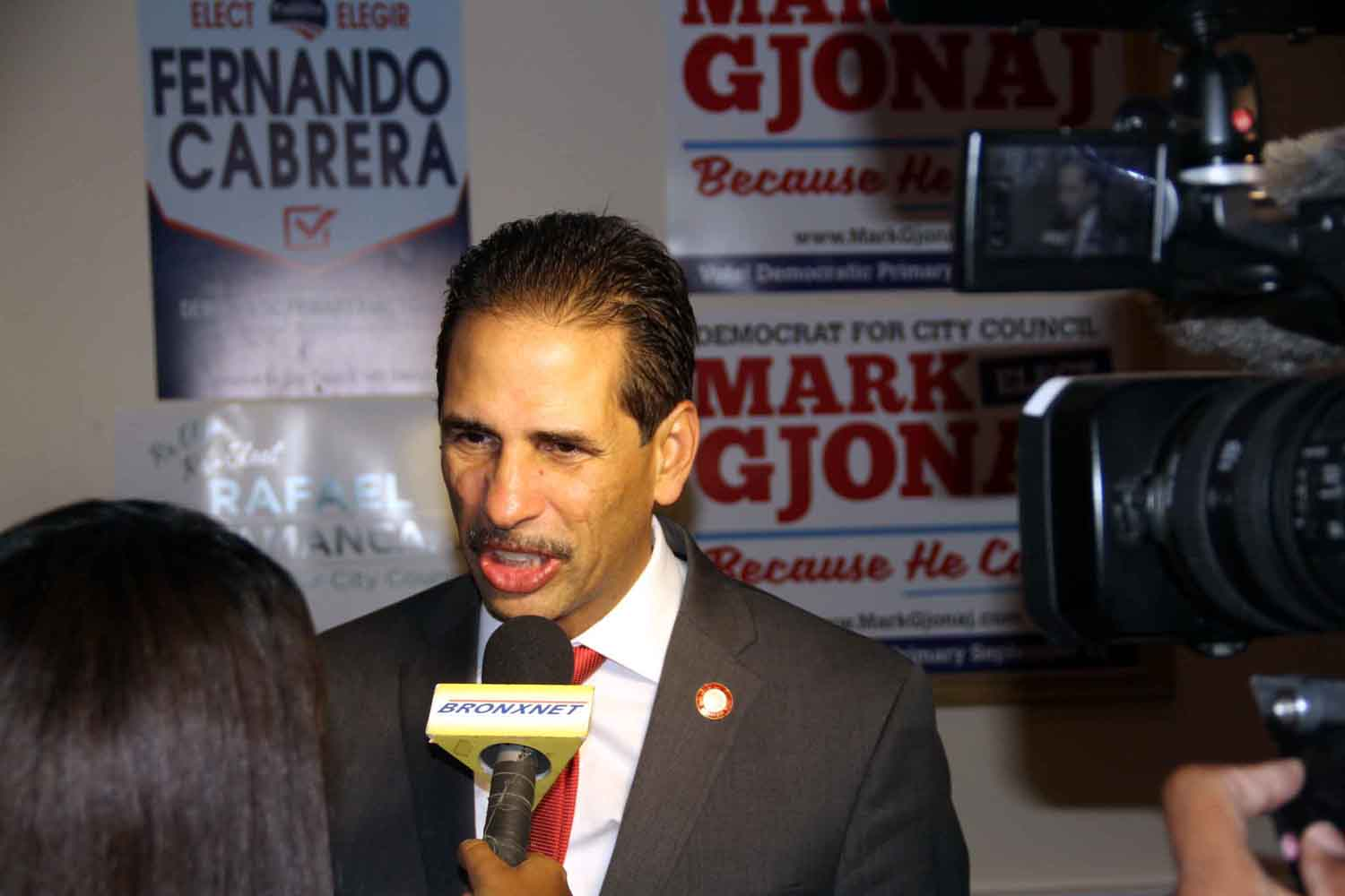 Councilman Fernando Cabrera earned his parties nomination defeating challenger Randy Abreu with more than 50% of the vote.--Photo by David Greene