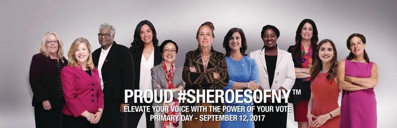 Proud #SHEROESOFNY (PRNewsfoto/The National Women's Political)