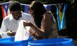 Bronxites donate needed food and clothing to island nations devastated by recent hurricanes.--Photo by David Greene