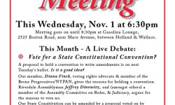 BPECA Meeting: Live Debate, Vote for a State Constitutional Convention? – November 1