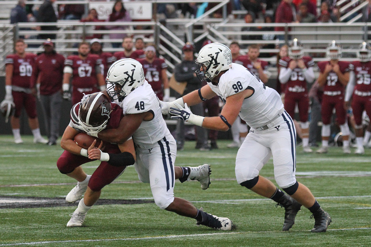Yale scored touchdowns on their first three drives of the game. Photos by Gary Quintal