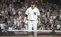 """""""Not all Hiros wear capes."""" 7 IP, 3 H, 0 R, 1 BB, 7 K from Masahiro Tanaka in the clutch. (@Yankees Twitter acct)"""