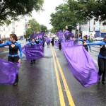 Participants march down Morris Park Avenue.--Photo by David Greene