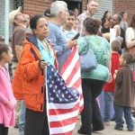 Bronxites turn out for the annual Bronx Columbus Day Parade in Morris Park.--Photo by David Greene