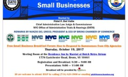 Bronx Chamber of Commerce and NYC Office of Administrative Trials & Hearings present a Free Small Business Forum Breakfast on October 19