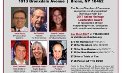 Bronx Chamber of Commerce Italian Heritage Luncheon: October 18