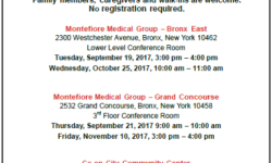 Free Health Workshops Sponsored by Montefiore