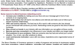 Bronx Chamber of Commerce Business Card Exchange & Networking Event
