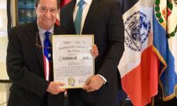 Bronx Borough President Ruben Diaz Jr., honoring Audrey Puente, Meteorologist, Fox 5.