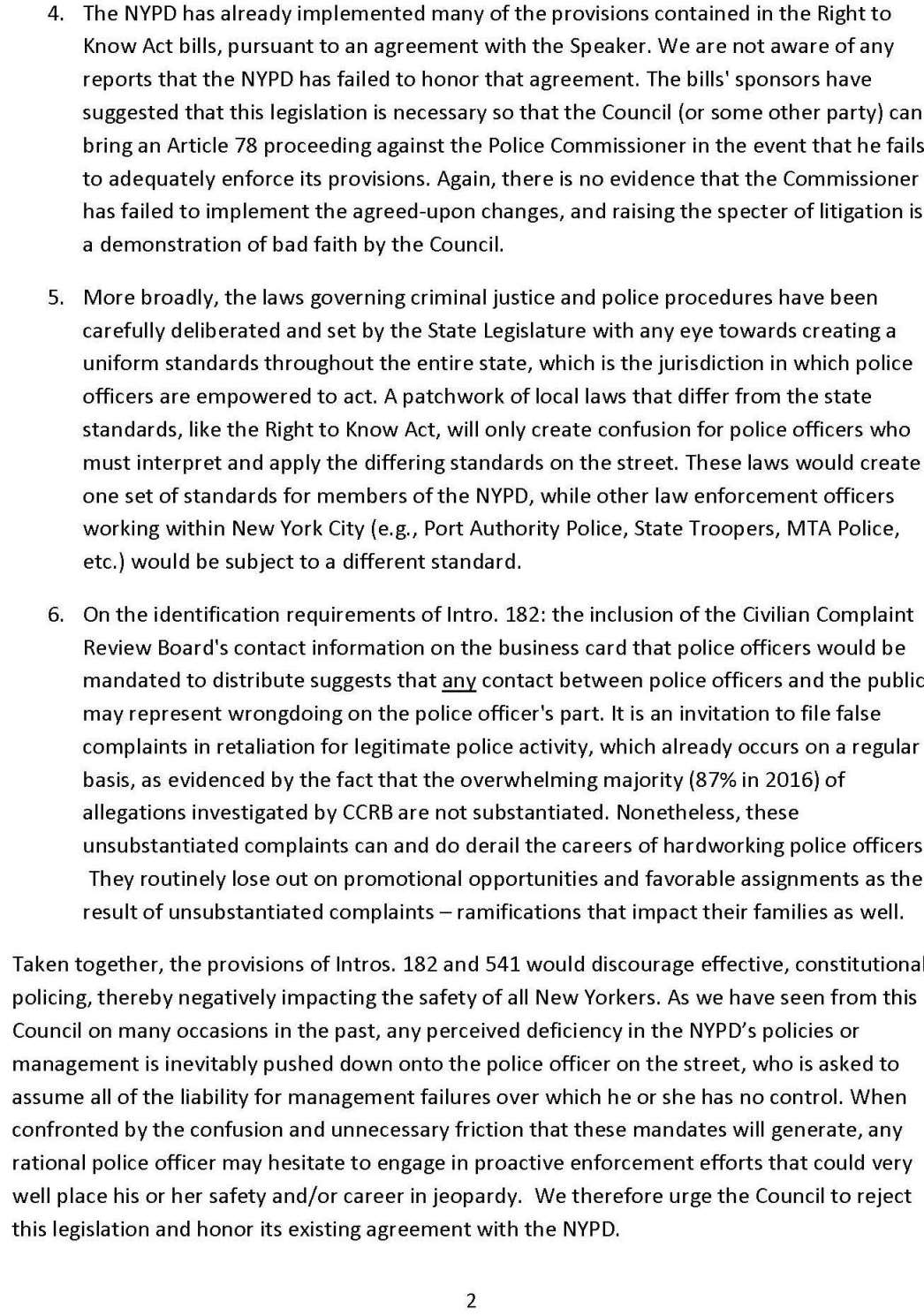 NYC PBA - Right to Know Act - Intro 182 Intro 541_FINAL_Page_2