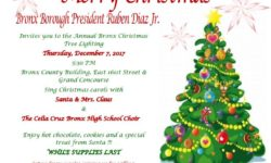 BP DIAZ HOSTS BRONX CHRISTMAS TREE LIGHTING, 12/ 7