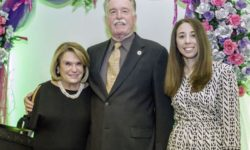 honoree Kathy Zamechansky, Joe McManus, and Louisa Benedetto