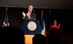 NYC Mayor Bill de Blasio and First Lady Chirlane McCray at Gracie Mansion. Edwin J. Torres/Mayoral Photography Office.