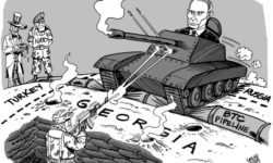 Putin's forces have targeted the Republic of Georgia.