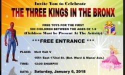 "STATE SENATOR RUBEN DIAZ TO CELEBRATE ""THREE KINGS DAY"" FOR THE CHILDREN OF OUR COMMUNITY"