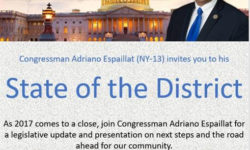 State of the District Event hosted by Rep. Adriano Espaillat, 12/27