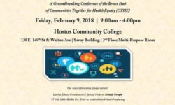 Save the Date – Friday, February 9 | 9:00 AM – 4:00 PM  Putting Community at the Center of Transforming our Bronx Health