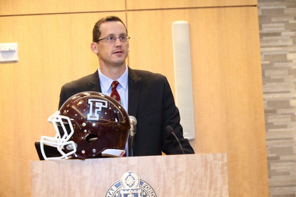 New Fordham Football Coach Defined Process The Bronx