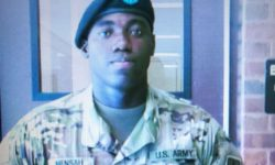 The New York Post reports that Army private, Emmanuel Mensah, was home on leave for the first time since he enlisted a year ago, when the building that he