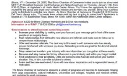 Bronx Chamber of Commerce MEET UP! Breakfast Business Card Exchange and Networking Event: January 11