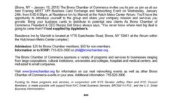 Bronx Chamber of Commerce MEET UP Business Card Exchange and Networking Event: Wed, Jan 24