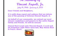 In Memory of Vincent Napoli, Jr.