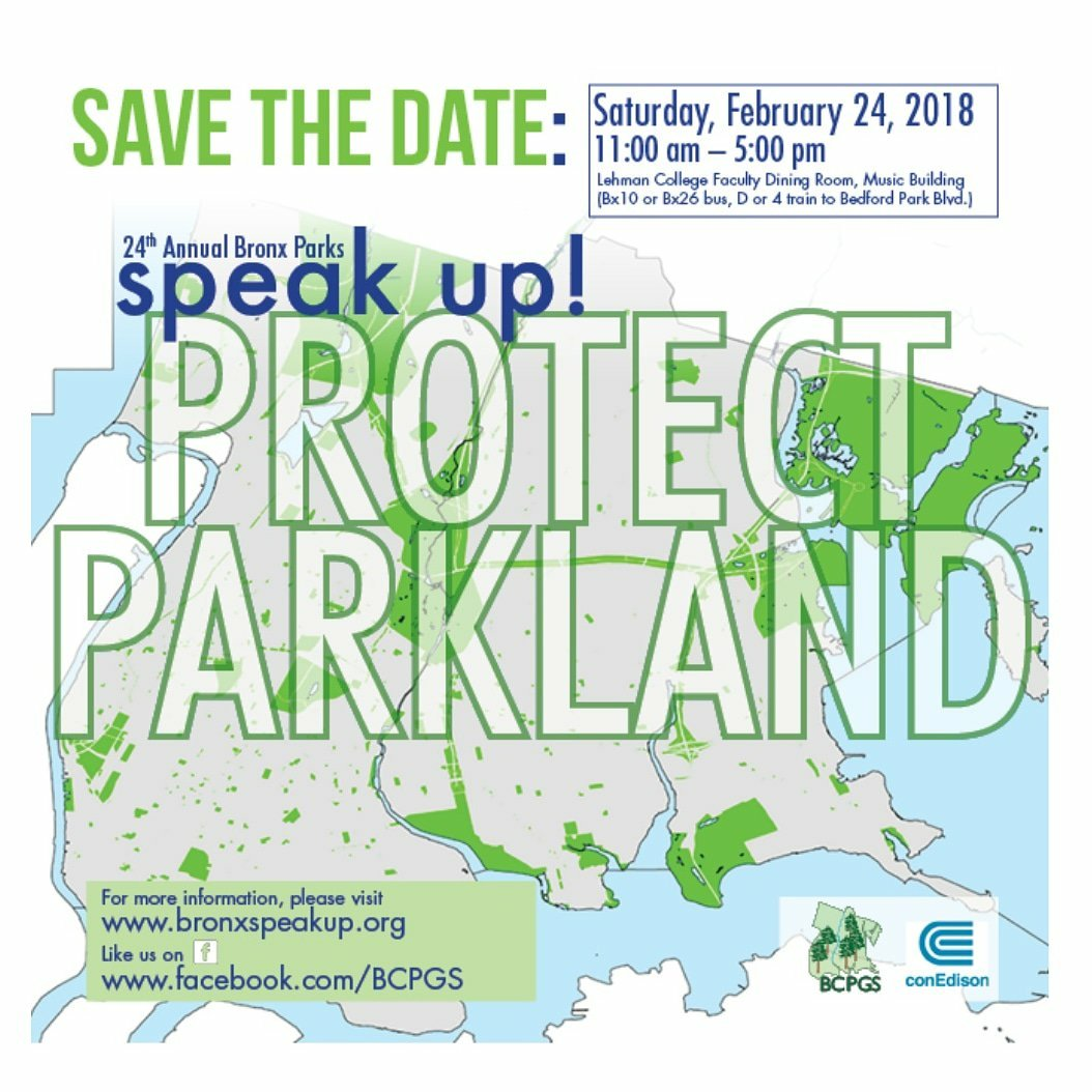 24th Annual Bronx Parks Speak Up, February 24
