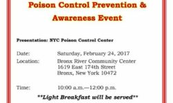 Poison Control Prevention and Awareness Event – February 24
