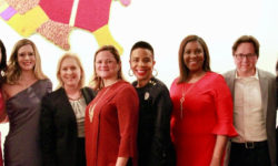 Above (l to r): City Council Speaker Corey Johnson, former Councilwoman Elizabeth Crowley, 21 in'21 Executive Director Moira McDermott, U.S. Senator Kirsten Gillibrand​, former City Council Speaker Melissa Mark-Viverito, Councilwoman Laurie Cumbo, Public Advocate Letitia James, EffectiveNY Executive Director Morgan Pehme, Councilwoman Carlina Rivera, former City Council candidate Amanda Farias.