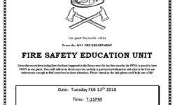 Pelham Parkway Neighborhood Association Meeting: Fire Safety – February 13th