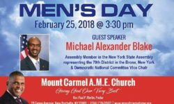 Assemblyman Blake Addresses New Rochelle Men's Day