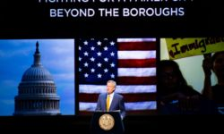 New York City Mayor Bill de Blasio delivers his fifth State of the City address at the Kings Theatre in Brooklyn on Tuesday, February 13, 2017. Benjamin Kanter/Mayoral Photo Office.