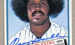 Oscar Gamble: his trade to the Yankees before the 1976 season brought about the demise of his large afro hairstyle. [Pintrest -- MLB.com]